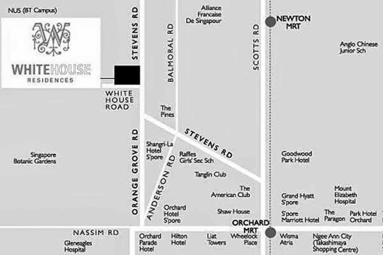 whitehouse residences location map
